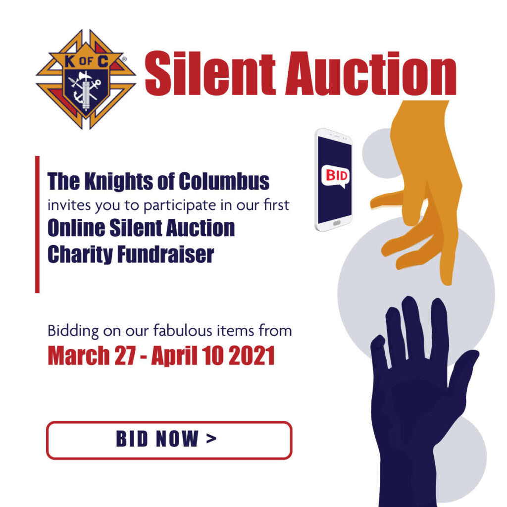 Silent Auction Charity Fundraiser March 27th to April 10th. Click to see more.
