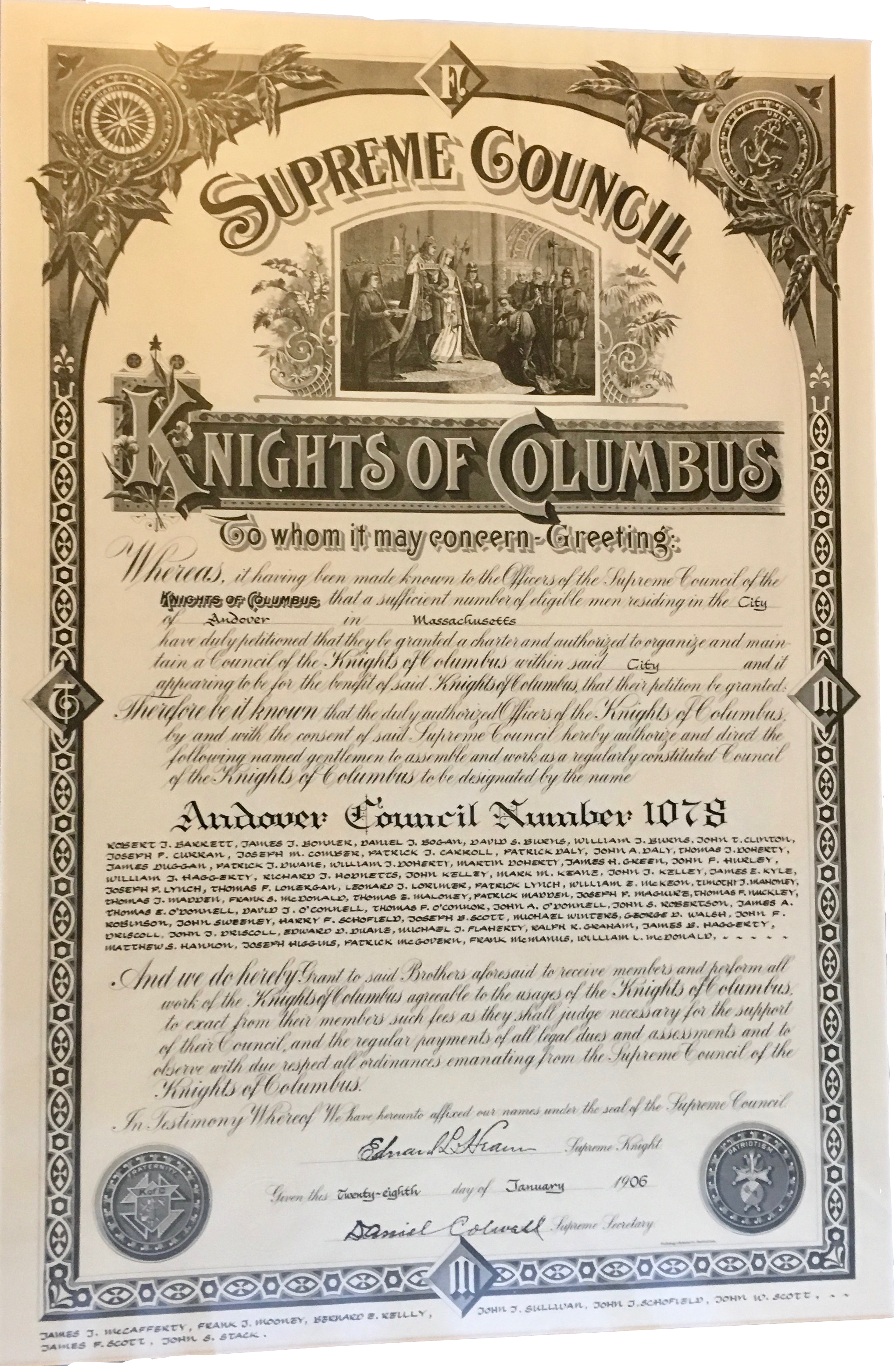 Knights of Columbus charter
