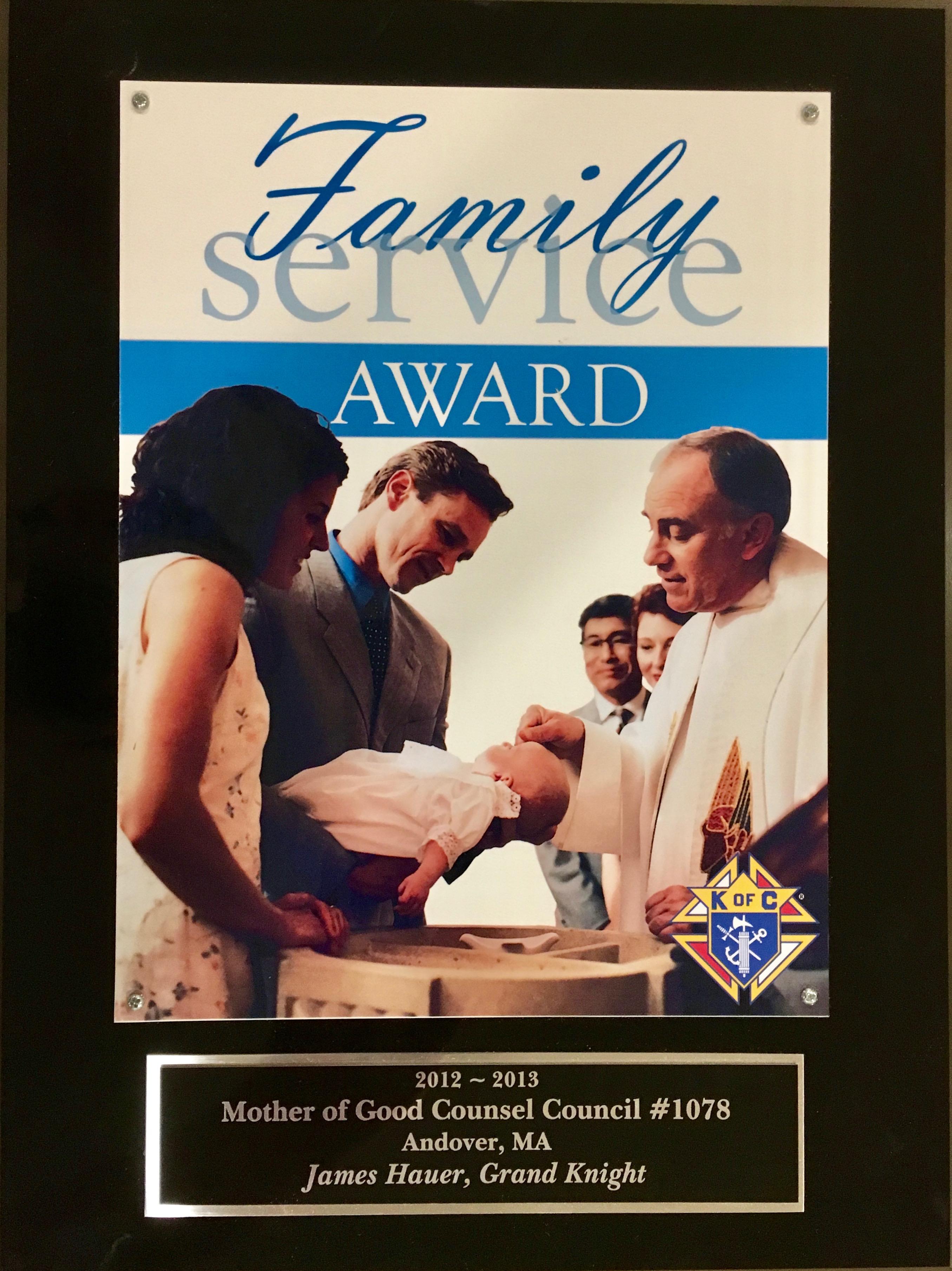 Family Service Award to Council 1078