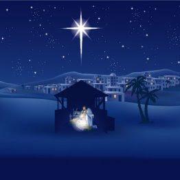 Star of Bethlehem over Manger