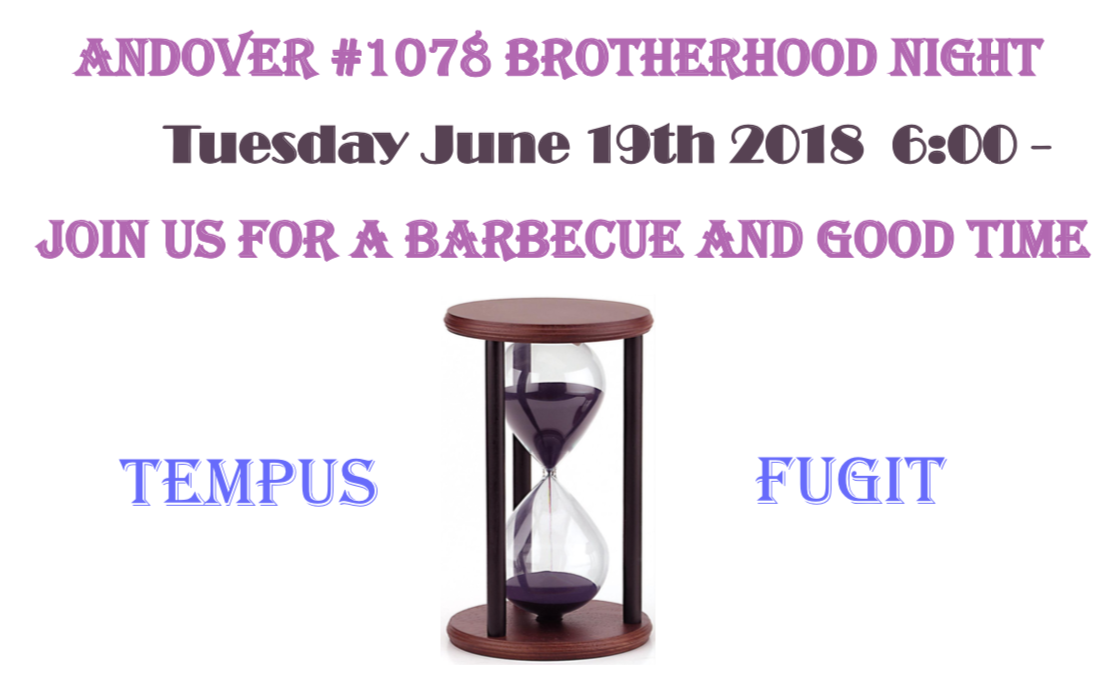Brotherhood Night, Tuesday, June 19, 2018, 6:00pm