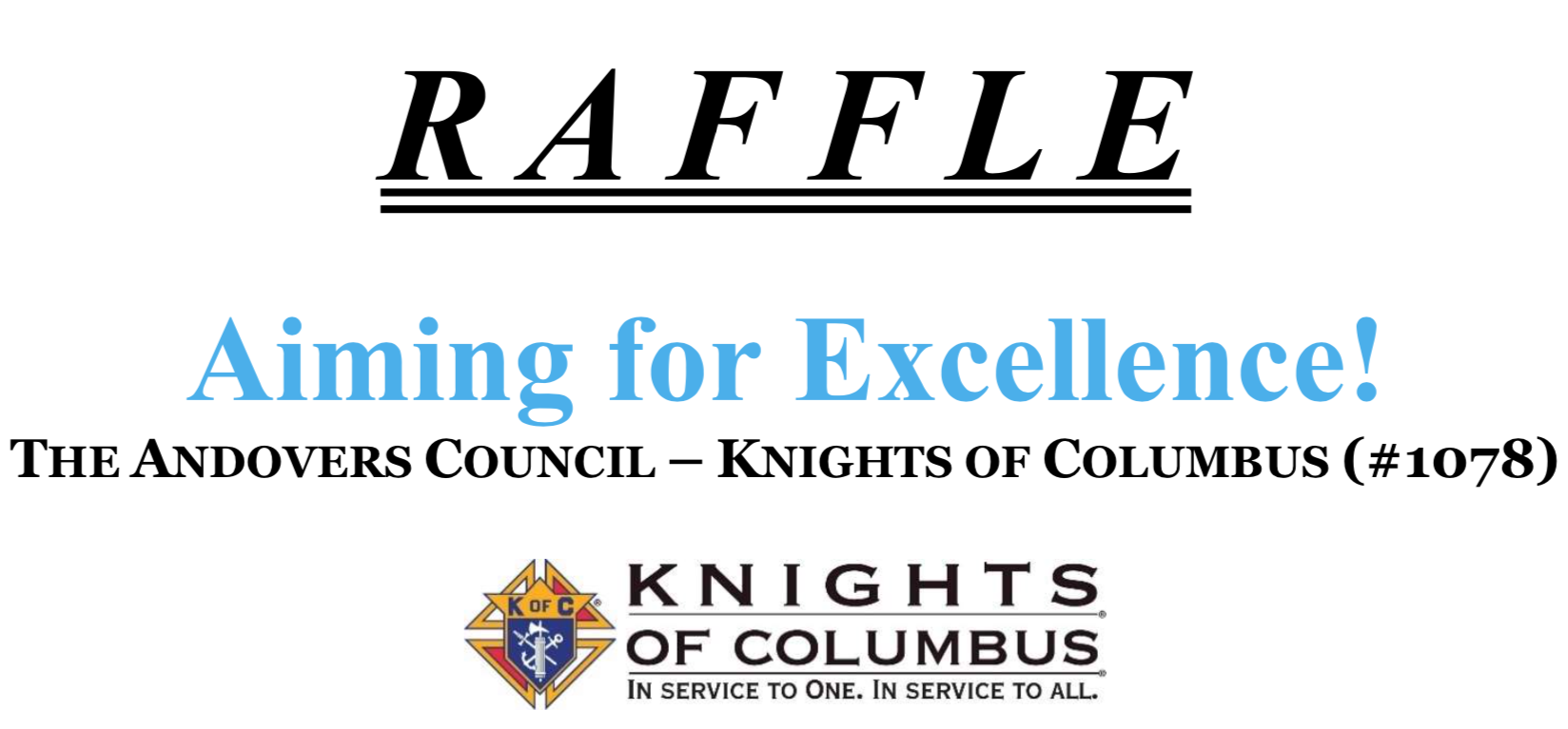 Fall Raffle in support of St. Augustine School, St. Michael School, and our Council